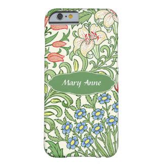 Funda Barely There iPhone 6 Monograma personalizado modelo floral del jardín