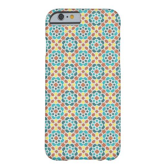Funda Barely There iPhone 6 Mosaico de azulejo y arabesco amarillo y verde