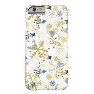 Funda Barely There iPhone 6 Muñecos de nieve y caso del iPhone 6/6s del