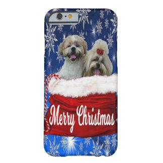 Funda Barely There iPhone 6 Navidad de la caja del teléfono del tzu de Shih