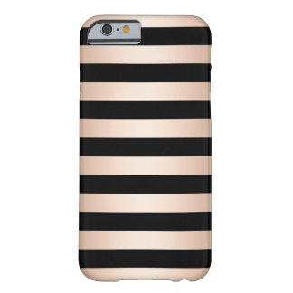 Funda Barely There iPhone 6 Negro subió polluelo moderno elegante del oro
