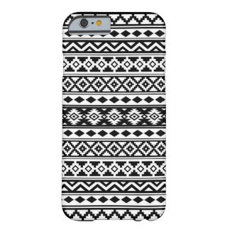 Funda Barely There iPhone 6 Negro y blanco aztecas de IIb del modelo de la