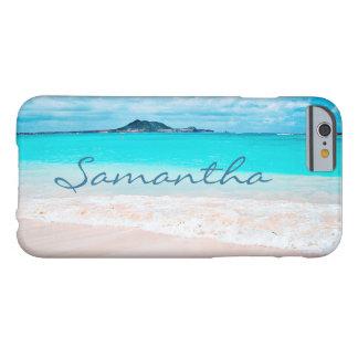 Funda Barely There iPhone 6 Nombre del personalizado de la foto del océano