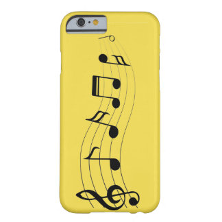 Funda Barely There iPhone 6 Notas musicales del personalizar