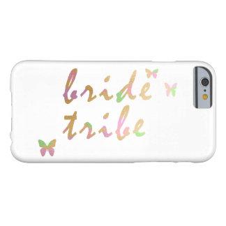 Funda Barely There iPhone 6 oro elegante y tribu color de rosa de la novia del