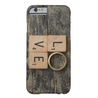 Funda Barely There iPhone 6 Palabra creativa del amor con los elementos de