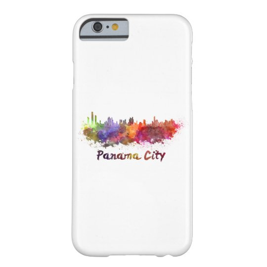 Funda Barely There iPhone 6 Panama City skyline in watercolor