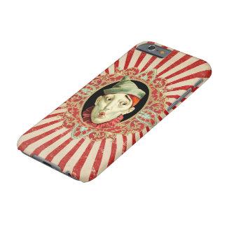 Funda Barely There iPhone 6 Payaso de circo del vintage y golpeteo apenado de