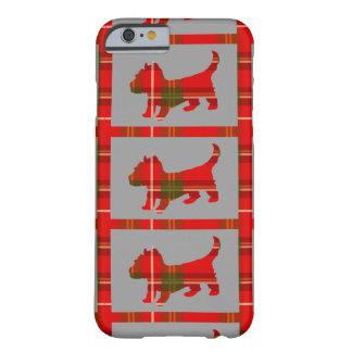 Funda Barely There iPhone 6 Perrito del tartán en el caso del iPhone 6/6s
