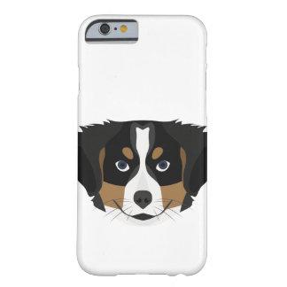 Funda Barely There iPhone 6 Perro de montaña de Bernese del ilustracion
