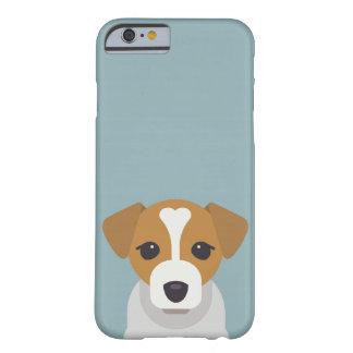 Funda Barely There iPhone 6 Perro lindo en fondo ciánico