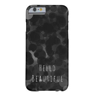 Funda Barely There iPhone 6 Personalizado elegante moderno negro y del blanco
