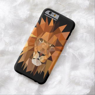 Funda Barely There iPhone 6 Personalizado moderno del león del polígono