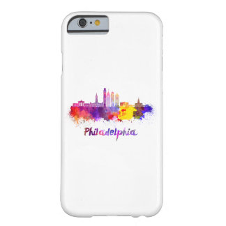 Funda Barely There iPhone 6 Philadelphia V2 skyline in watercolor