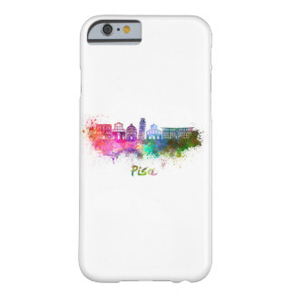 Funda Barely There iPhone 6 Pisa skyline in watercolor