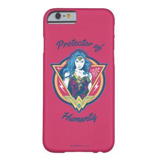 Funda Barely There iPhone 6 Plantilla gráfica tricolora de la Mujer Maravilla