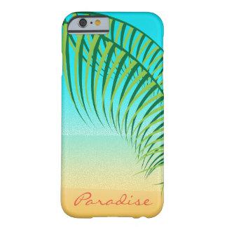 Funda Barely There iPhone 6 Playa abandonada hojas de palma tropicales