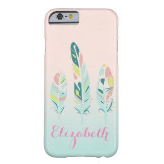Funda Barely There iPhone 6 Plumas femeninas modernas lindas adorables