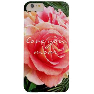 "Funda Barely There iPhone 6 Plus ""Ámele foto color de rosa rosada suave del primer"