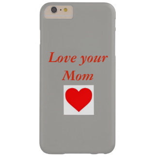 Funda Barely There iPhone 6 Plus Amor para su caja del teléfono de Mom.3D
