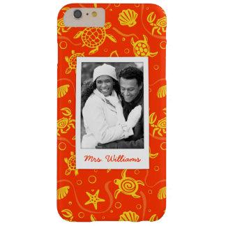 Funda Barely There iPhone 6 Plus Añada su modelo anaranjado de la playa de la foto