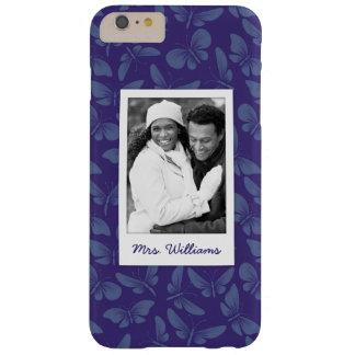 Funda Barely There iPhone 6 Plus Añada sus mariposas de la púrpura de la foto el |