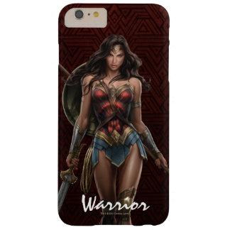 Funda Barely There iPhone 6 Plus Arte cómico Batalla-Listo de la Mujer Maravilla