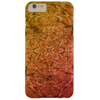 Funda Barely There iPhone 6 Plus arte dibujado mano de encargo de la mandala para