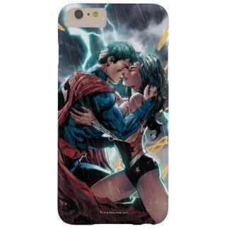 Funda Barely There iPhone 6 Plus Arte promocional cómico del superhombre/de la