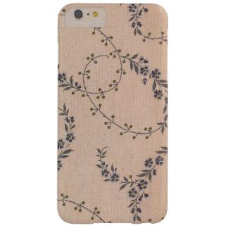 Funda Barely There iPhone 6 Plus Bayas púrpuras del oro de las vides de la flor de