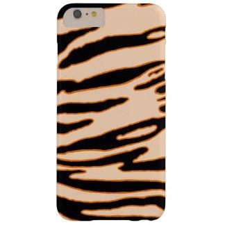 Funda Barely There iPhone 6 Plus Caja anaranjada de la raya del tigre