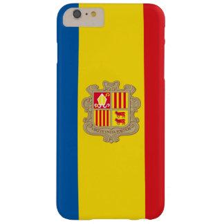 Funda Barely There iPhone 6 Plus Caja andorrana del teléfono de la bandera