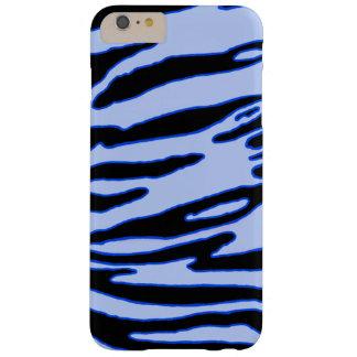 Funda Barely There iPhone 6 Plus Caja azul de la raya del tigre