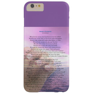 Funda Barely There iPhone 6 Plus Caja bendecida del teléfono de la mujer