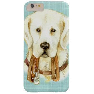 Funda Barely There iPhone 6 Plus Caja blanca del iPhone del perrito de la acuarela