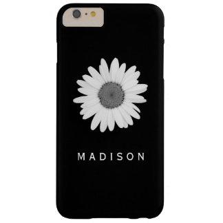 Funda Barely There iPhone 6 Plus Caja blanco y negro de la flor de la margarita del