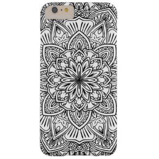 Funda Barely There iPhone 6 Plus Caja blanco y negro del teléfono del arte de la