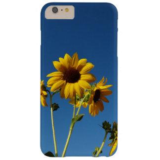 Funda Barely There iPhone 6 Plus Caja de la foto del girasol y de la abeja
