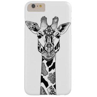 Funda Barely There iPhone 6 Plus Caja del teléfono de la jirafa de Blackwork