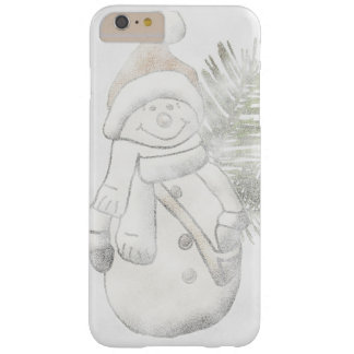 Funda Barely There iPhone 6 Plus Caja del teléfono del navidad del muñeco de nieve