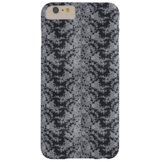 Funda Barely There iPhone 6 Plus Caja fina floral negra del iPhone de la textura