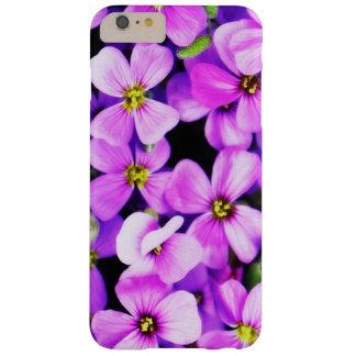 Funda Barely There iPhone 6 Plus Caja floral del teléfono celular del Phlox púrpura