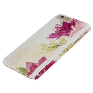 Funda Barely There iPhone 6 Plus Caja floral rosada del teléfono