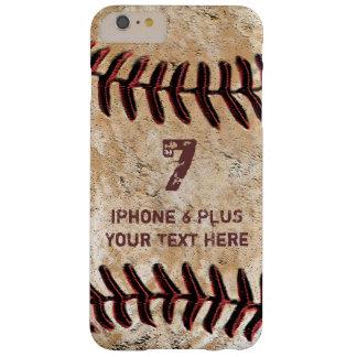 Funda Barely There iPhone 6 Plus Caja MÁS personalizada del iPhone 7 del béisbol su