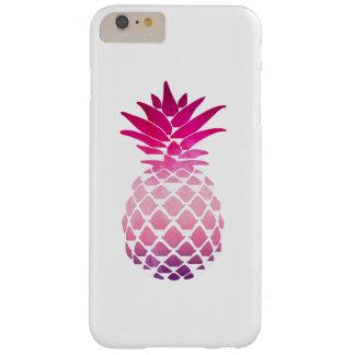 Funda Barely There iPhone 6 Plus Caja rosada del teléfono de la acuarela de la piña