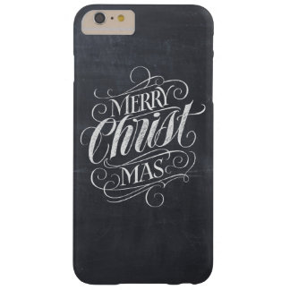 Funda Barely There iPhone 6 Plus Caligrafía cristiana de la pizarra de las Felices
