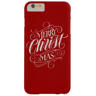 Funda Barely There iPhone 6 Plus Caligrafía cristiana de la pizarra del navidad de