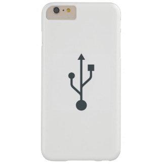 Funda Barely There iPhone 6 Plus caso del iPhone con el símbolo de USB