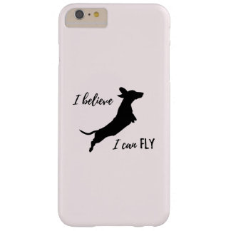 Funda Barely There iPhone 6 Plus Caso divertido del iphone del Dachshund que creo