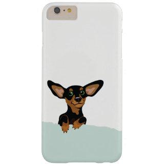Funda Barely There iPhone 6 Plus Caso lindo del iphone del ilustracion del perrito